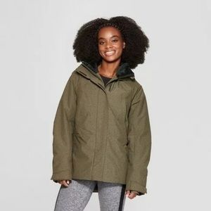 Puffer Snow Jacket C9 Champion Olive Green XSmall